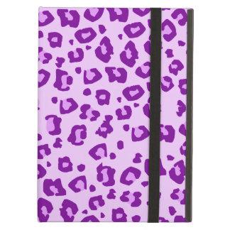 Caja púrpura de los powis del ipad del estampado d