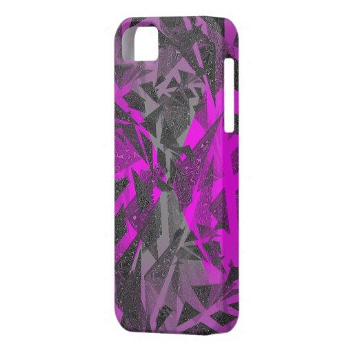 Caja púrpura de plata de Iphone 5 de los pedazos iPhone 5 Carcasas