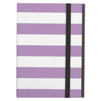 Caja púrpura del aire del iPad de las rayas