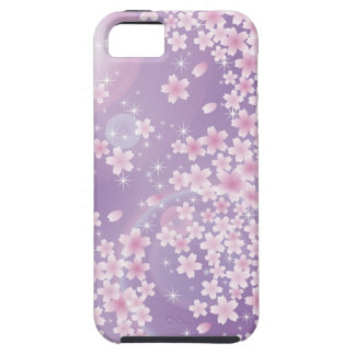 Caja púrpura del ambiente del iPhone 5 de la flor iPhone 5 Case-Mate Fundas