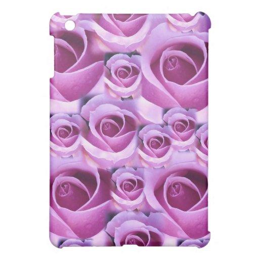 Caja púrpura del cojín de los rosas I