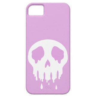 Caja púrpura del cráneo de Melty iPhone 5 Carcasas