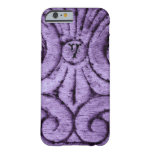 Caja (púrpura) del diseño de la flor de lis