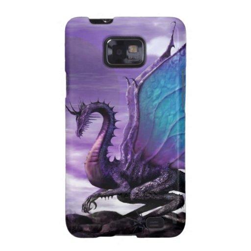 caja púrpura del dragón P Samsung Galaxy SII Carcasas