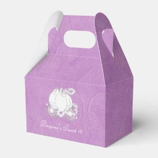 Caja púrpura del favor de fiesta del carro de caja para regalos de fiestas