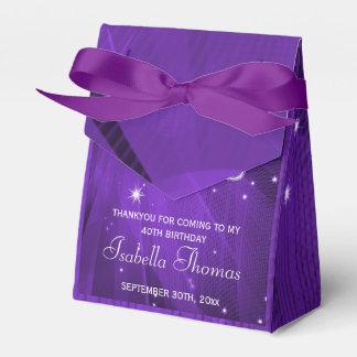 Caja púrpura del favor de los talones de la bola caja para regalos