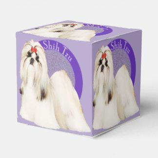 Caja púrpura del favor de Shih Tzu Cajas Para Regalos De Boda