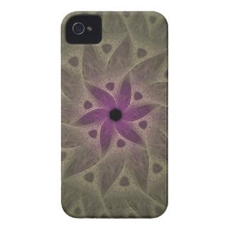 Caja púrpura del fractal del extracto de la flor,  iPhone 4 carcasas