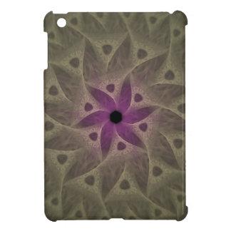 Caja púrpura del fractal del extracto de la flor p