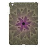 Caja púrpura del fractal del extracto de la flor p iPad mini protector