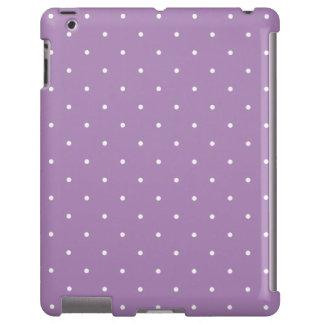 Caja púrpura del iPad 2/3/4 del lunar del estilo d