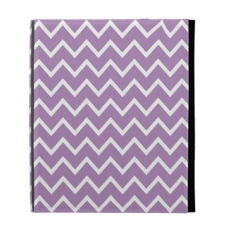 Caja púrpura del iPad de Chevron