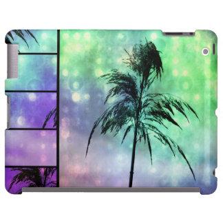Caja púrpura del iPad de la aguamarina de la