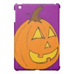 Caja púrpura del iPad de la linterna de Jack O