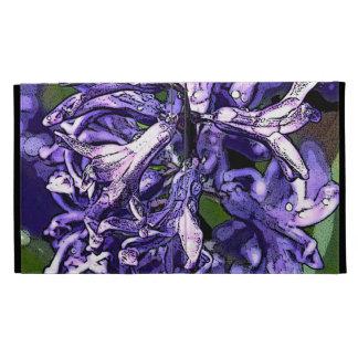 Caja púrpura del iPad del carrito del jacinto