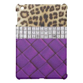 Caja púrpura del iPad del diamante atractivo del l