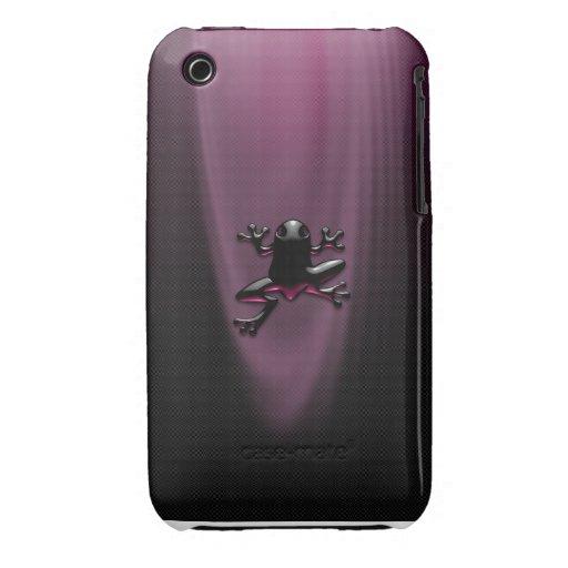 Caja púrpura del iPhone 3/3G del Froggy Carcasa Para iPhone 3