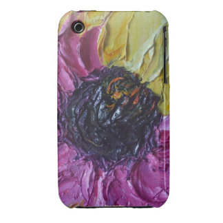 Caja púrpura del iPhone 3 del flor de Roberto iPhone 3 Case-Mate Protector