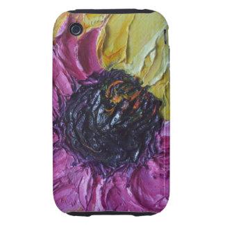 Caja púrpura del iPhone 3 del flor de Roberto iPhone 3 Tough Coberturas