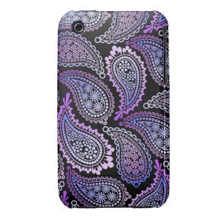 Caja púrpura del iPhone 3G/3GS de Paisley iPhone 3 Cobertura