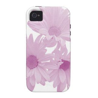 Caja púrpura del iPhone 4/4S de las margaritas iPhone 4 Carcasas