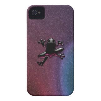 Caja púrpura del iPhone 4/4S del Froggy iPhone 4 Protectores