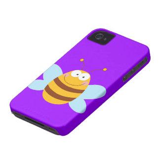 Caja púrpura del iPhone 4 de la abeja