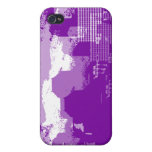 Caja púrpura del iPhone 4 de la ciudad iPhone 4/4S Carcasas