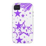 caja púrpura del iphone 4 de la estrella iPhone 4 fundas