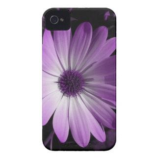 Caja púrpura del iPhone 4 de la flor de la Carcasa Para iPhone 4