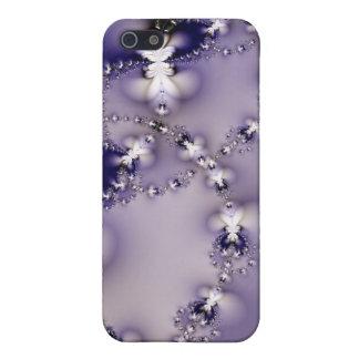 Caja púrpura del iPhone 4 de la flor del fractal iPhone 5 Funda