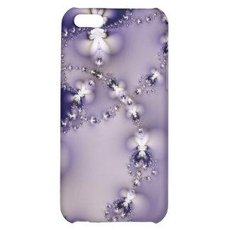 Caja púrpura del iPhone 4 de la flor del fractal