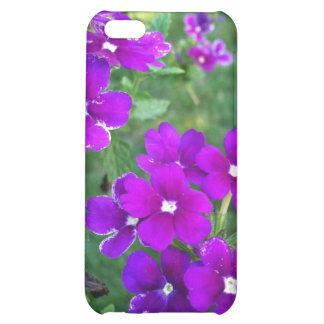 Caja púrpura del iPhone 4 de la flor