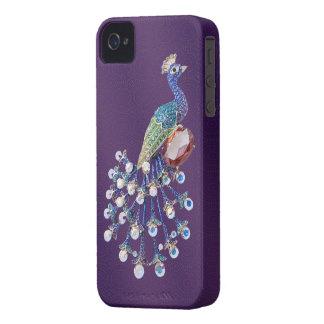 Caja púrpura del iPhone 4 de las joyas de Digitace Case-Mate iPhone 4 Protector