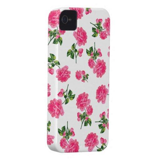 Caja púrpura del iphone 4 de los rosas del jardín carcasa para iPhone 4