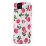 Caja púrpura del iphone 4 de los rosas del jardín  Case-Mate iPhone 4 protector