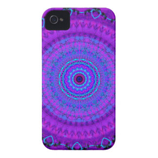 Caja púrpura del iPhone 4 del caleidoscopio de la iPhone 4 Case-Mate Cárcasa