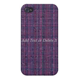 Caja púrpura del iphone 4 del mosaico iPhone 4 cárcasas
