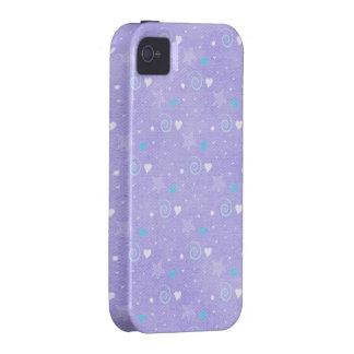 Caja púrpura del iphone 4 del remolino y de las es iPhone 4 funda