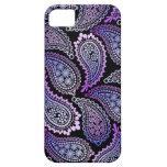 Caja púrpura del iPhone 5/5S de Paisley iPhone 5 Case-Mate Protectores