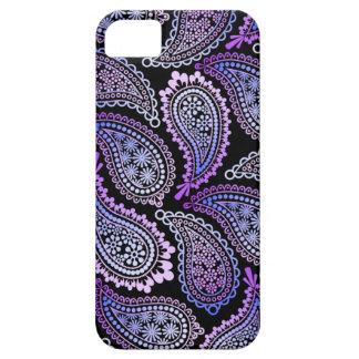 Caja púrpura del iPhone 5/5S de Paisley Funda Para iPhone 5 Barely There