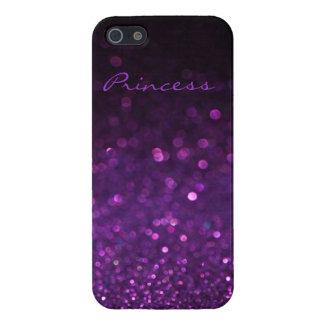 Caja púrpura del iPhone 5/5S del brillo iPhone 5 Funda
