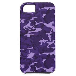 Caja púrpura del iPhone 5 de Apple del camuflaje