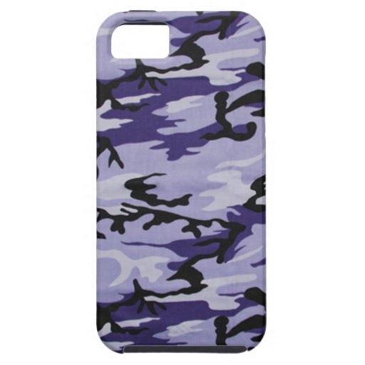 Caja púrpura del iPhone 5 de Camo iPhone 5 Carcasas
