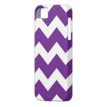 Caja púrpura del iPhone 5 de Chevron iPhone 5 Protectores