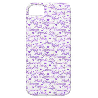 Caja púrpura del iPhone 5 de la conciencia iPhone 5 Protector
