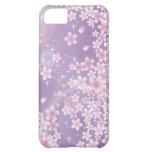 Caja púrpura del iPhone 5 de la flor de cerezo