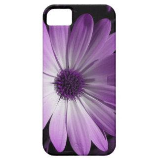 Caja púrpura del iPhone 5 de la flor de la Funda Para iPhone SE/5/5s