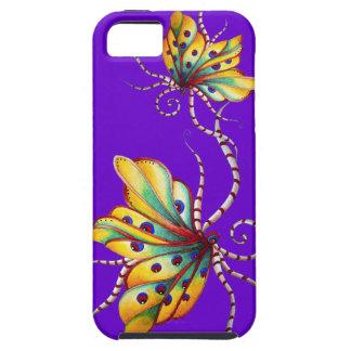 Caja púrpura del iPhone 5 de la mariposa increíble iPhone 5 Fundas