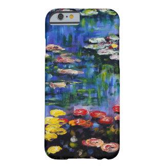 Caja púrpura del iPhone 5 de los lirios de agua de